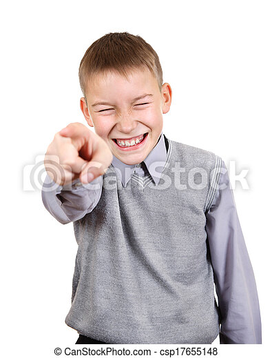 Boy pointing at You - csp17655148