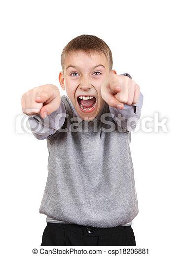 Boy Pointing - csp18206881