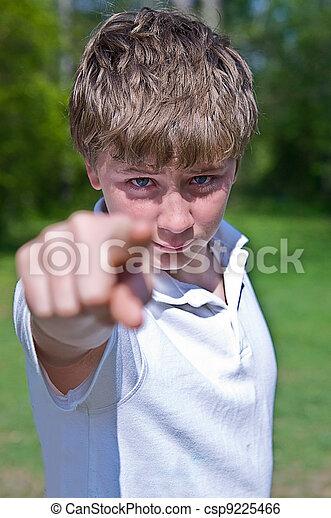Boy Pointing - csp9225466