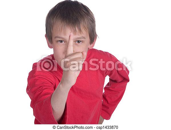boy pointing - csp1433870