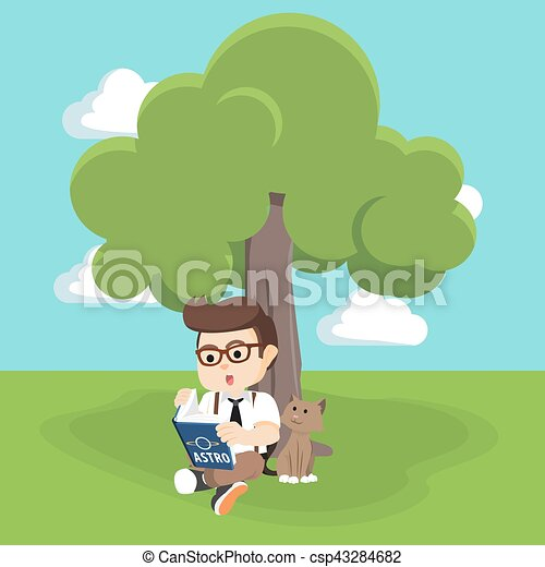 Girls reading under Tree Royalty Free Vector Image