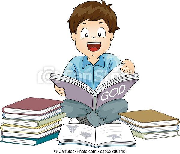 Boy Religioun Books - csp52280148