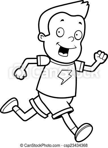 Boy Running - csp23434368