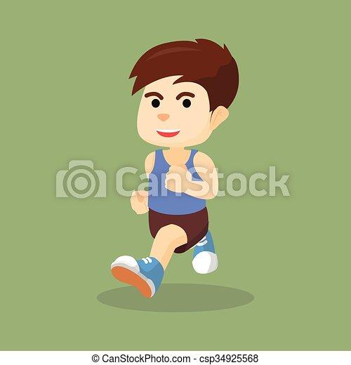 boy running - csp34925568