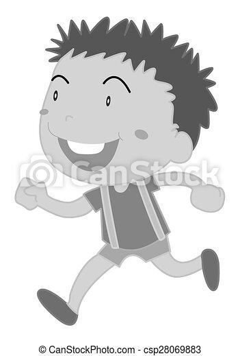 Boy running - csp28069883