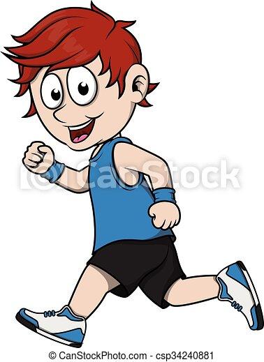 Boy running - csp34240881