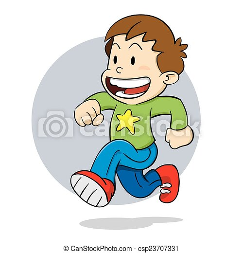 Boy running - csp23707331