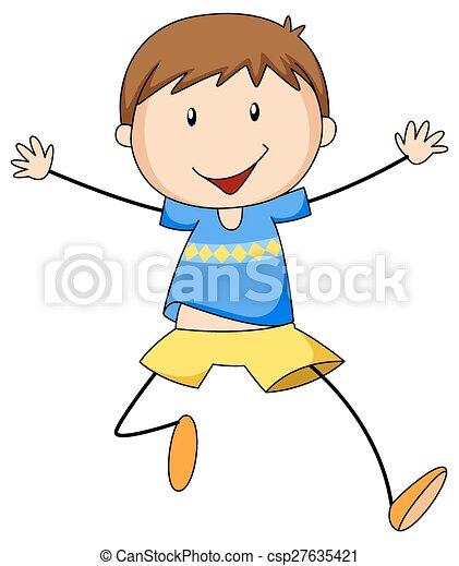 Boy running - csp27635421