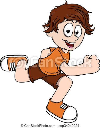 Boy running - csp34240924