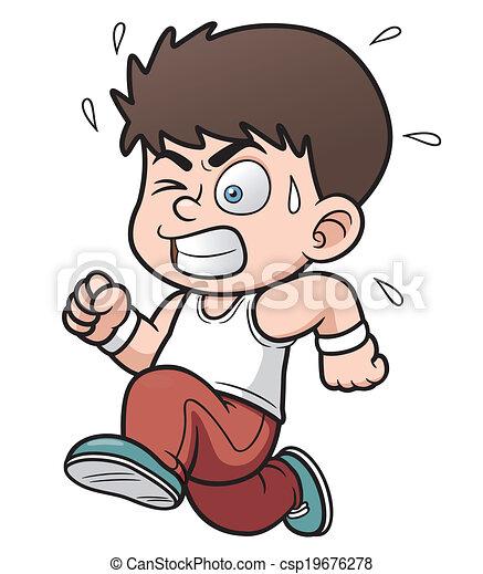 boy running - csp19676278
