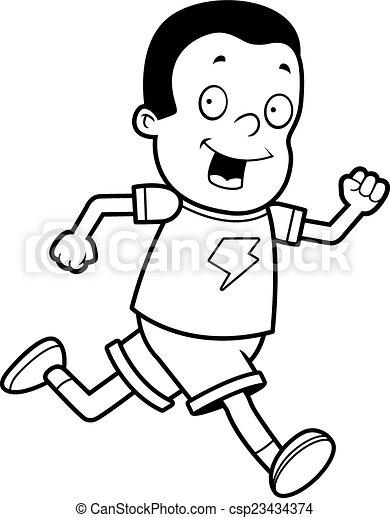 Boy Running - csp23434374