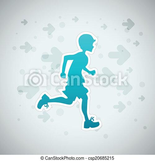 Boy Running - csp20685215