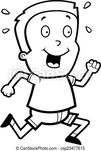 Boy Running - csp23477615