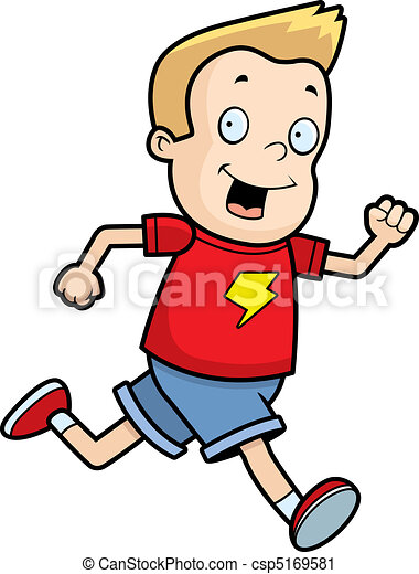 a happy cartoon boy running and smiling vector clip art search rh canstockphoto com boy running away clipart boy running away clipart