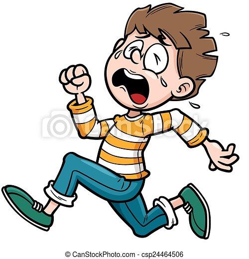Boy running - csp24464506