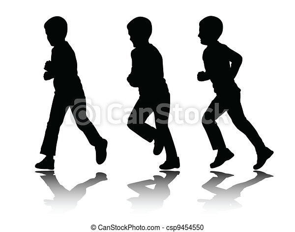boy running - csp9454550