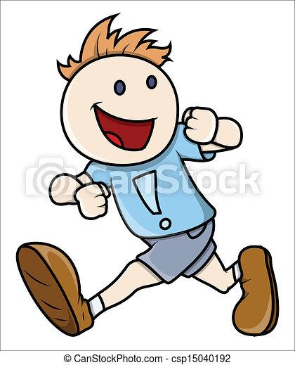 Boy Running - Vector Illustrations - csp15040192