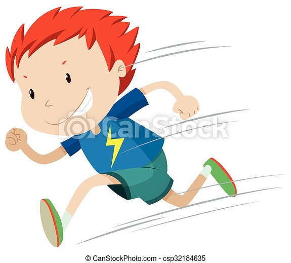 boy running very fast illustration rh canstockphoto com boy running clipart black and white boy girl running clipart