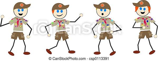 boy scout kids - csp0113391