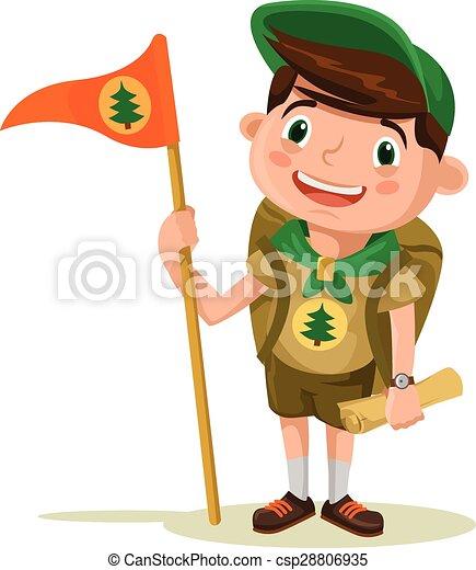 boy scout vector flat illustration vectors search clip art rh canstockphoto com boy scout camping clipart boy scout rank clipart