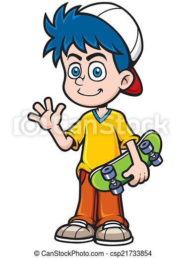 Boy skating - csp21733854