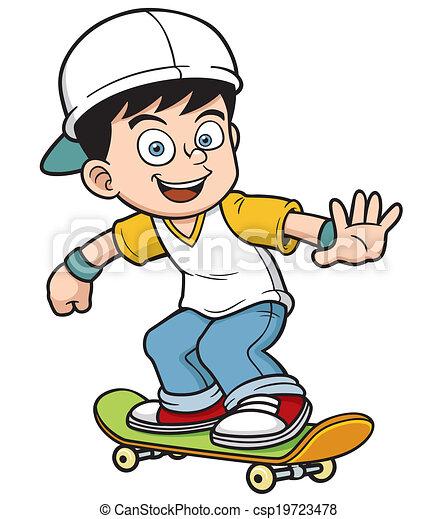 Boy skating - csp19723478
