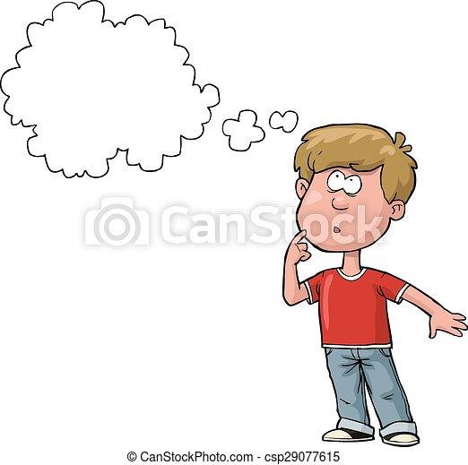 Boy thinking - csp29077615