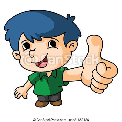 Boy Thumb Up - csp21663426