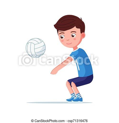 Vector Stock - Girl teen beach volleybal. Clipart Illustration gg82065518 -  GoGraph