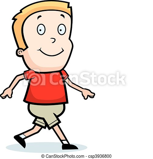 a happy cartoon boy walking and smiling vector clipart search rh canstockphoto com clip art walking feet clip art walking taco