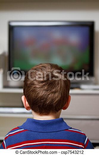 Boy watching TV - csp7543212