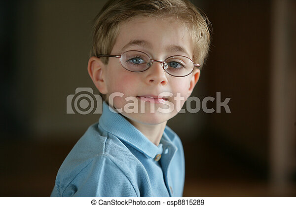 Boy wearing glasses - csp8815289