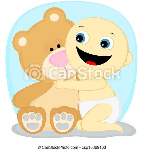 boy with a bear - csp15369163