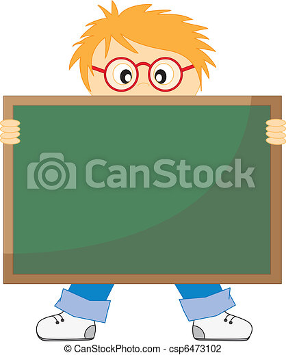Tafel wischen clipart  Boy with a blackboard. Back to school.child with a... vector ...