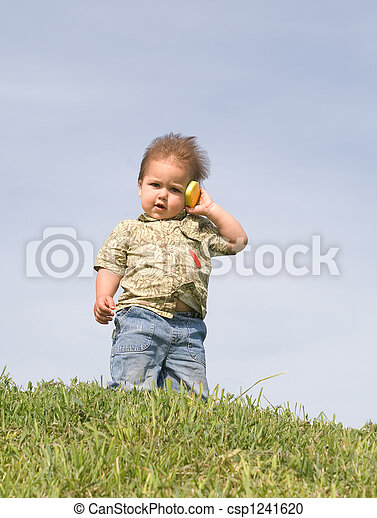 Boy with a cellphone - csp1241620