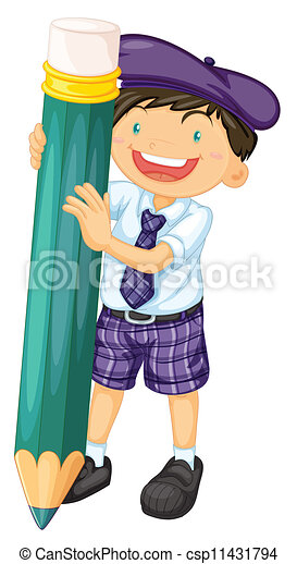 boy with a pencil - csp11431794