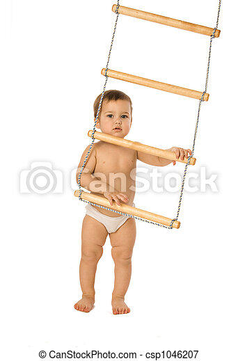 Boy with a rope-ladder 2 - csp1046207