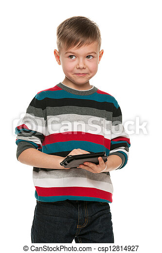 Boy with a smartphone - csp12814927
