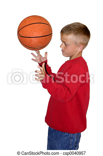 Boy with Basketball - csp0040957