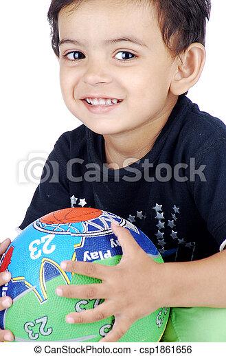 boy with basketball - csp1861656