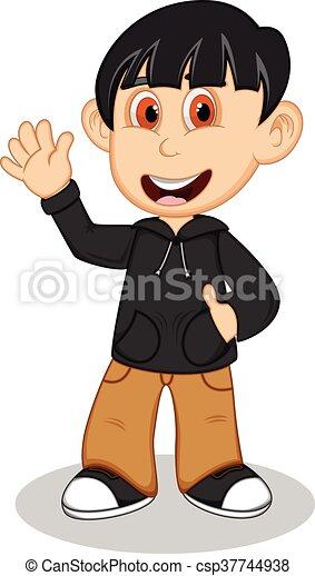 Boy with black jacket - csp37744938