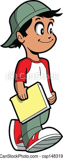 Boy With Book - csp14831958
