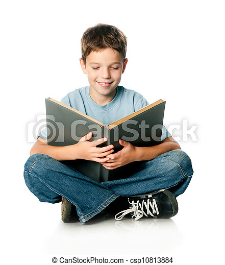 boy with book - csp10813884