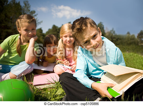 Boy with book - csp5105886
