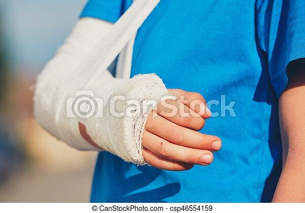 Boy With Broken Hand Broken Hand Of The Little Boy Injured After