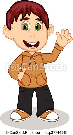 Boy with brown jacket - csp37744948