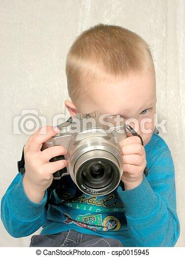 boy with camera#1 - csp0015945