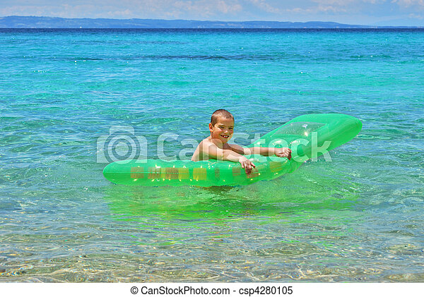 Boy with float - csp4280105