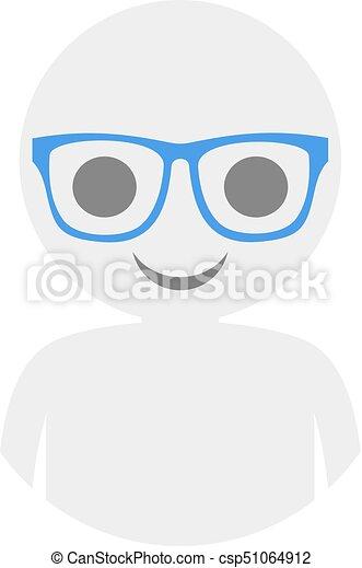 boy with glasses icon - csp51064912