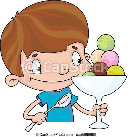boy with ice cream - csp5669998